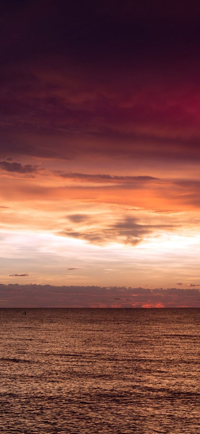 nf93-sunset-lake-sea-water-sky-cloud-nature-flare via iPhoneXpapers.com - Wallpa...
