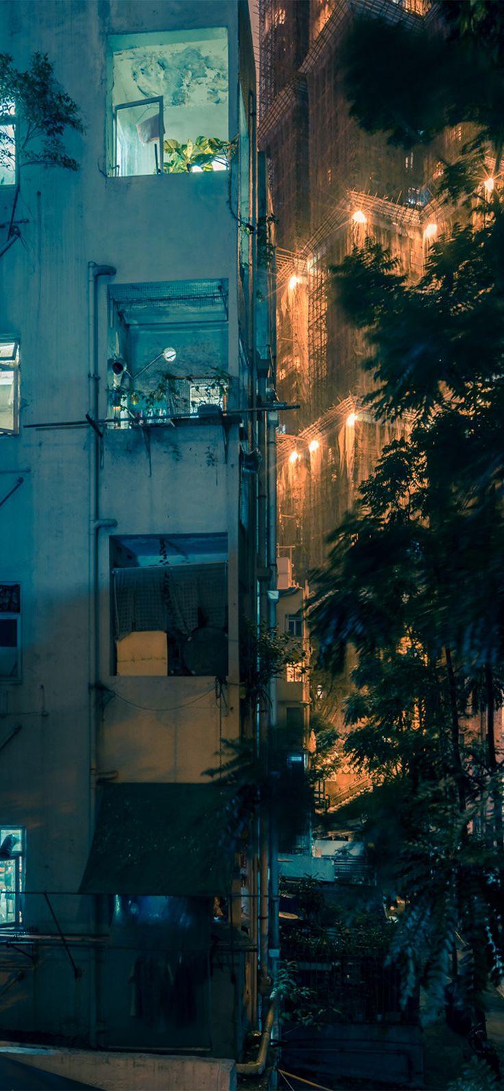 Iphone X Wallpaper Nz51 City Night Architecture Nature Via