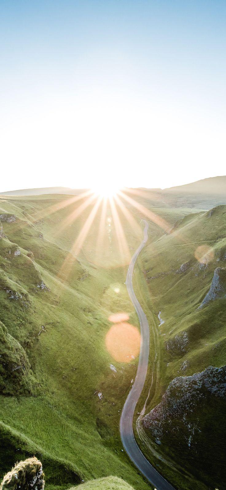 Iphone X Wallpaper Oa14 Mountain Light Sun Nature Via