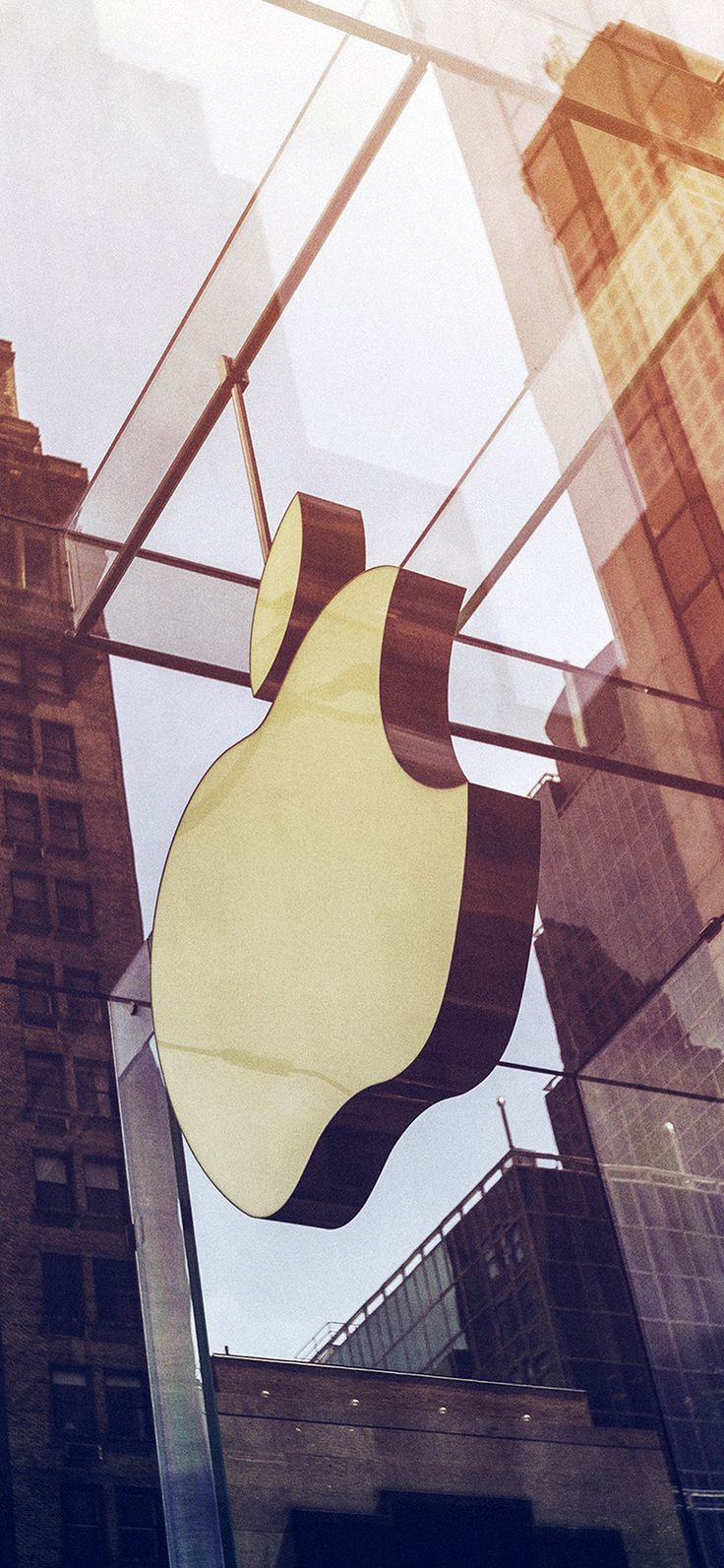 Iphone X Wallpaper Oa39 Apple Newyork City Logo Nature Sunny Via