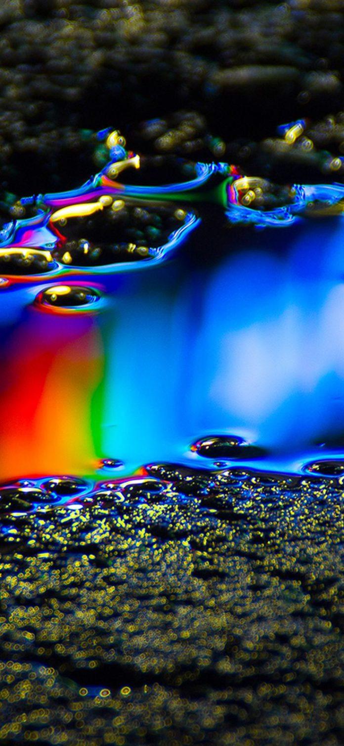 wb22-oil-dark-floor-rainbow-color-blue-pattern-background via iPhoneXpapers.com ...