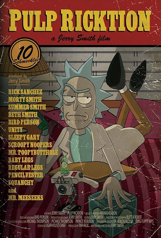 Does he look like a squanch? Pulp Ricktion by ToastMonsters - Rick And Morty mee...