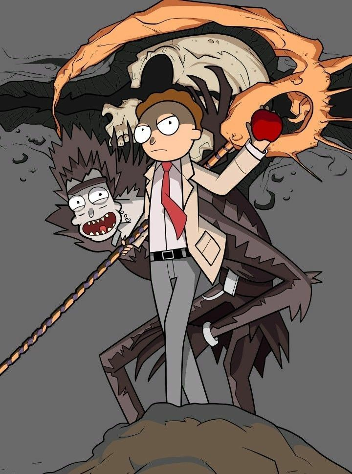 Rick And Morty Wallpaper Iphone Rick And Monty And Death Note