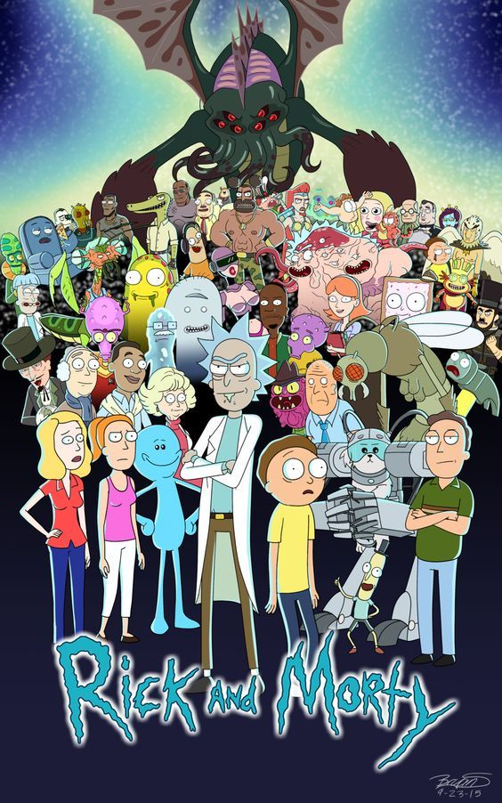 Rick and Morty Fan Poster by 3FrogBoy: