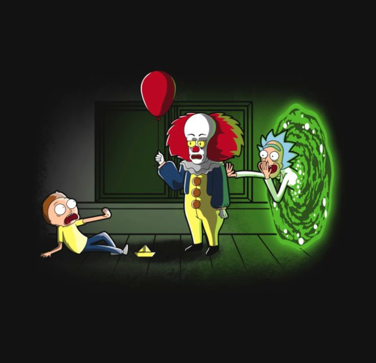 Rick and Morty Wallpaper iphone : Rick and Morty x Pennywise