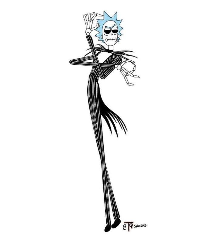Rick and Morty x The Nightmare Before Christmas
