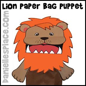 Lion Puppet Craft for Kids from www.daniellesplac...