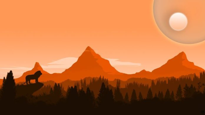 A little bit of Firewatch a little bit of Lion King [1920x1080] - See more on Cl...