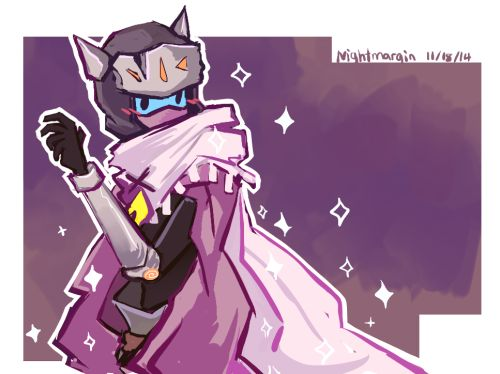 Drifter being adorable and admiring his new cape and completely forgetting that ...