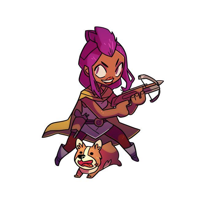La Voleuse, accompagnée de son chien.