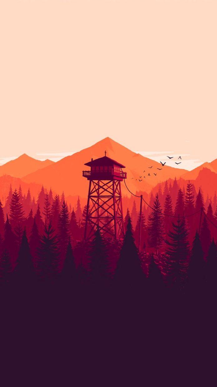 Minimal-Tower-iPhone-Wallpaper