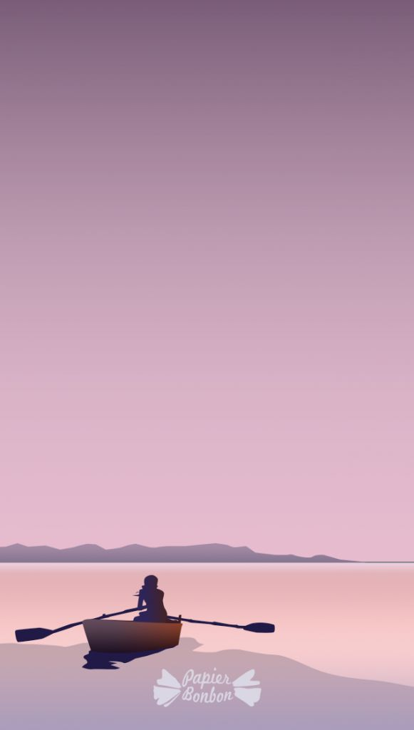 Cellphone wallpaper - PEACEFUL - Fond d'écran paisible - Barque été
