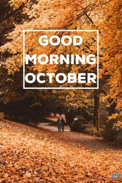 Good morning, October.