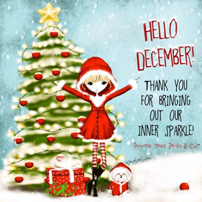 Hello December! Thank you for bringing out our inner sparkle! ~ Princess Sassy P...