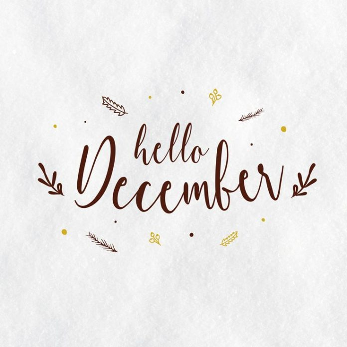 Hello December-typography-illustration-lettering-graphic design