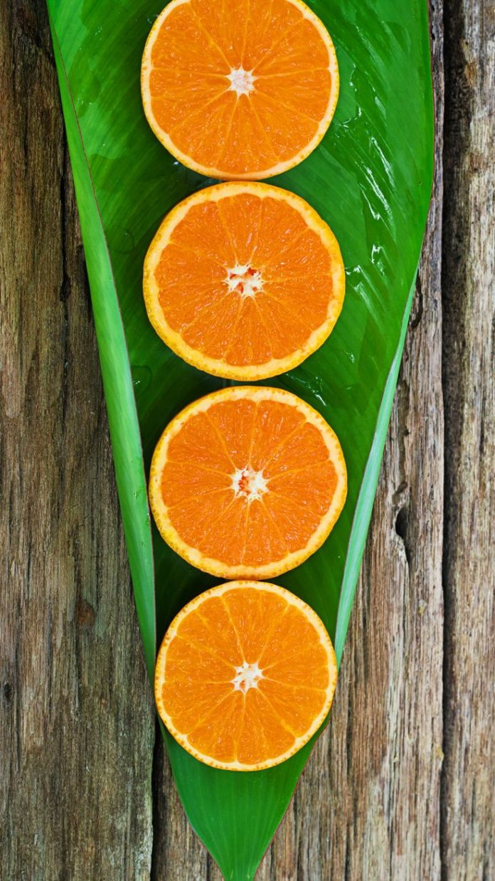 ↑↑TAP AND GET THE FREE APP! Art Creative Fruits Orange Leafs Wood Green Brow...