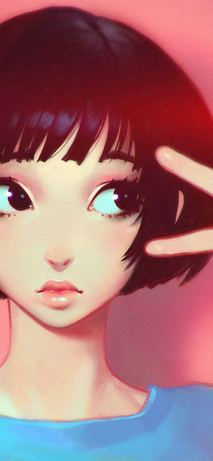 ay04-ilya-kuvshinov-pink-girl-illustration-art-pink-flare via iPhoneXpapers.com ...