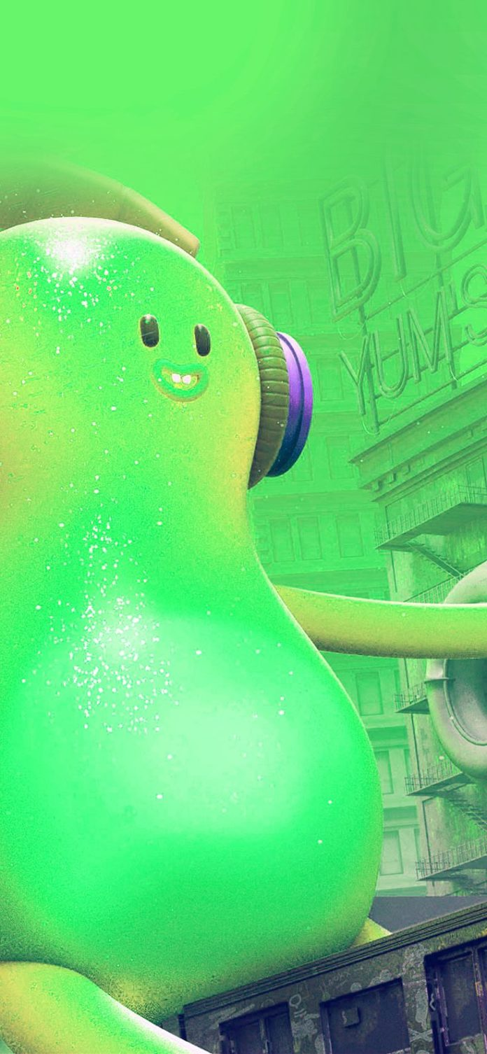 ay21-monster-green-cute-illustration-art via iPhoneXpapers.com - Wallpapers for ...