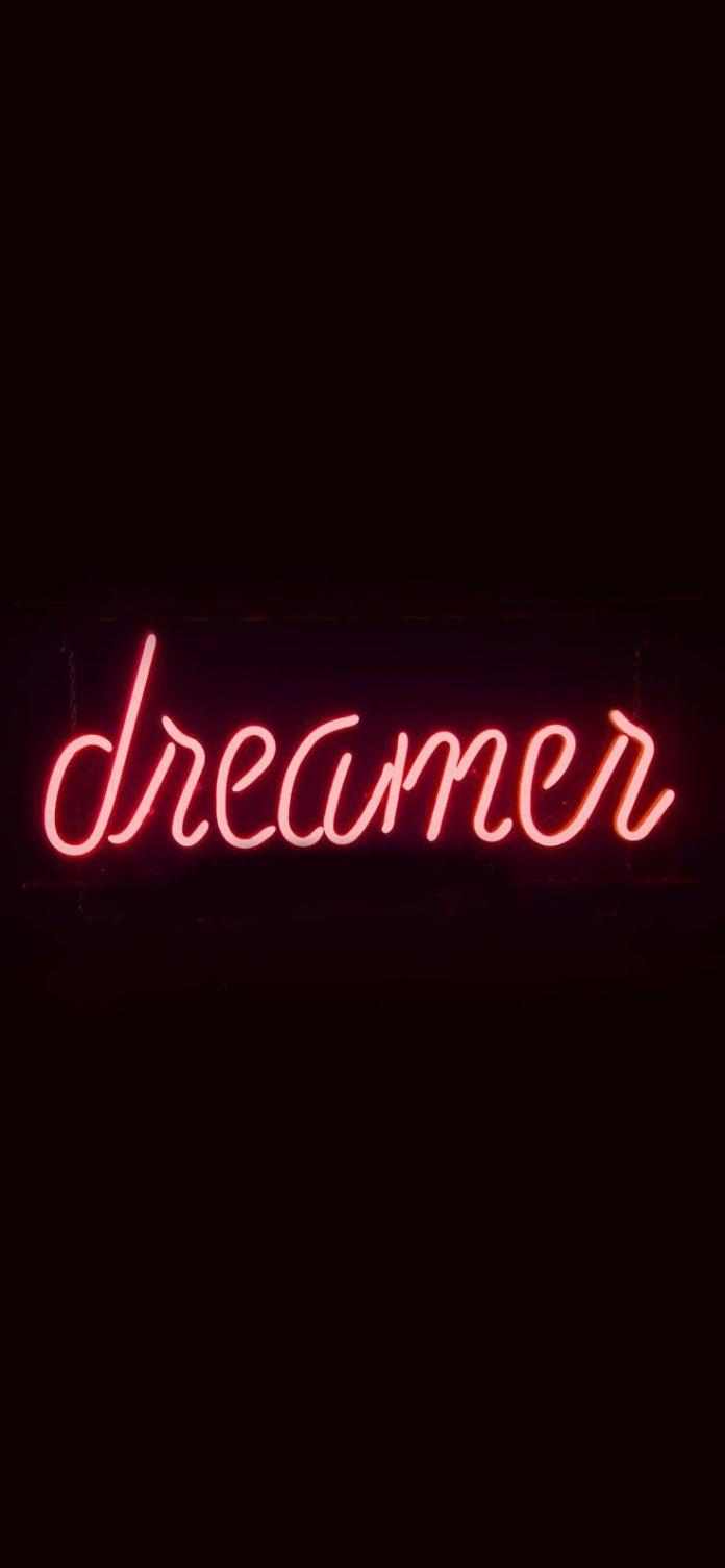 ay56-dreamers-neon-sign-dark-illustration-art-red via iPhoneXpapers.com - Wallpa...