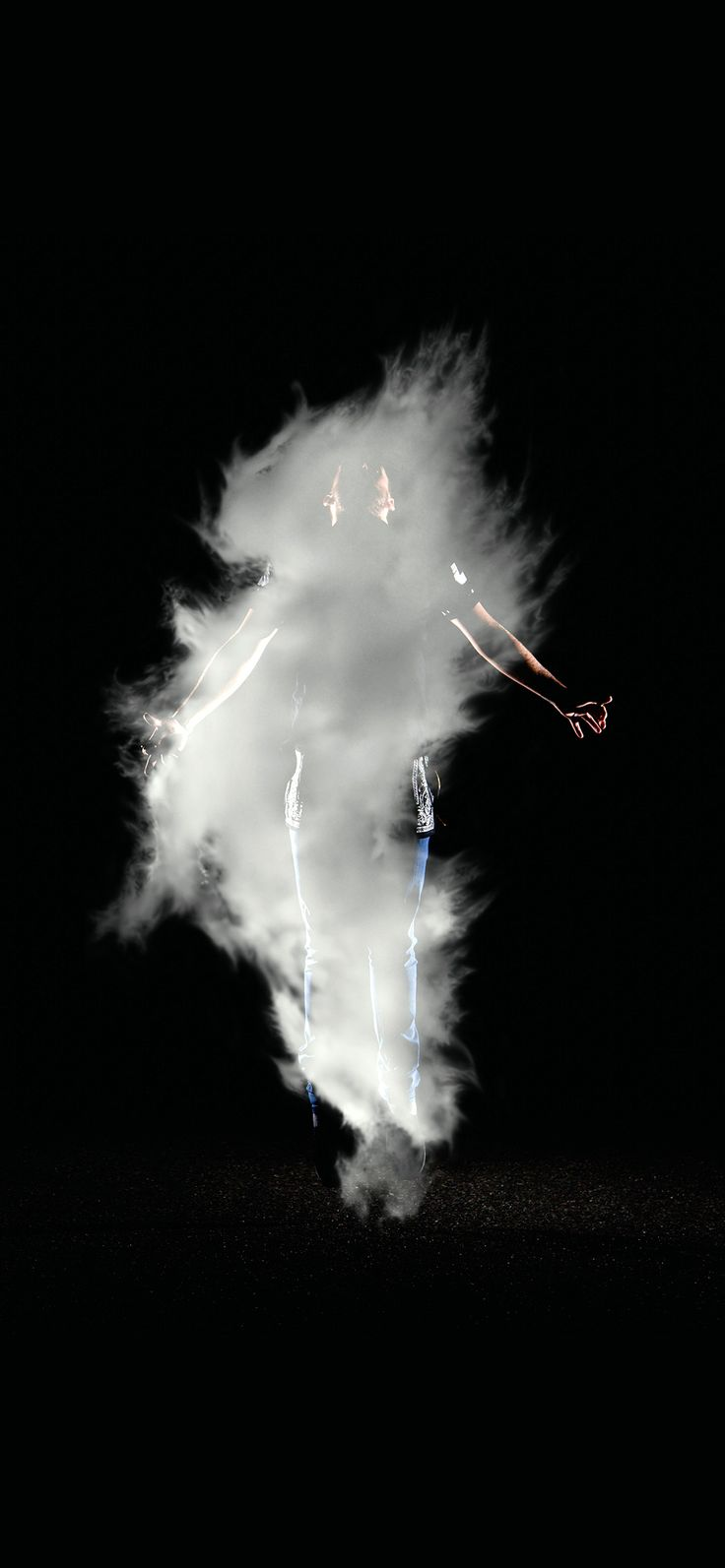 Iphone X Wallpaper Az49 Man Dark Smoke Illustration Art Black Via