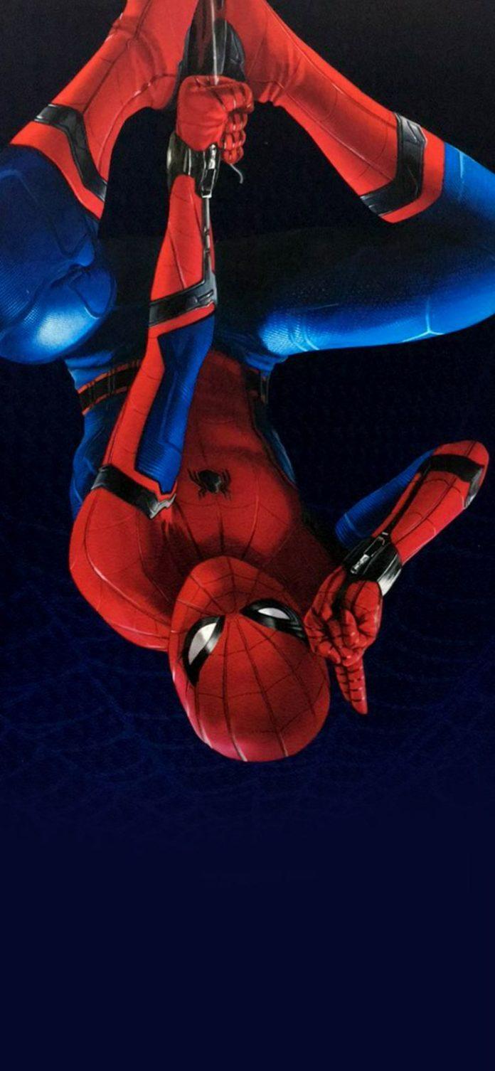az61-spiderman-homecoming-hero-film-illustration-art via iPhoneXpapers.com - Wal...