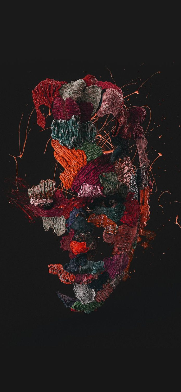ba71-face-dark-illustration-art-red via iPhoneXpapers.com - Wallpapers for iPhon...