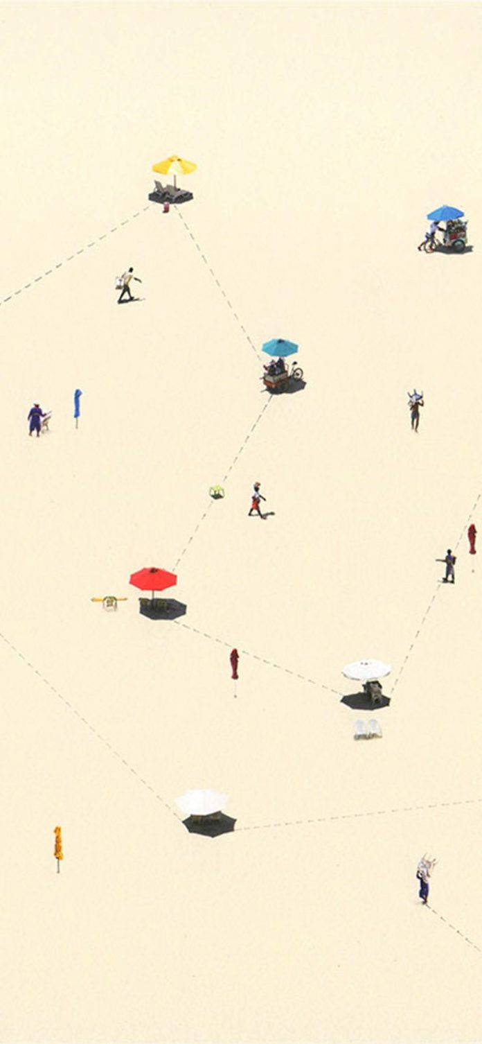 be72-summer-beach-small-picture-art-illustration via iPhoneXpapers.com - Wallpap...