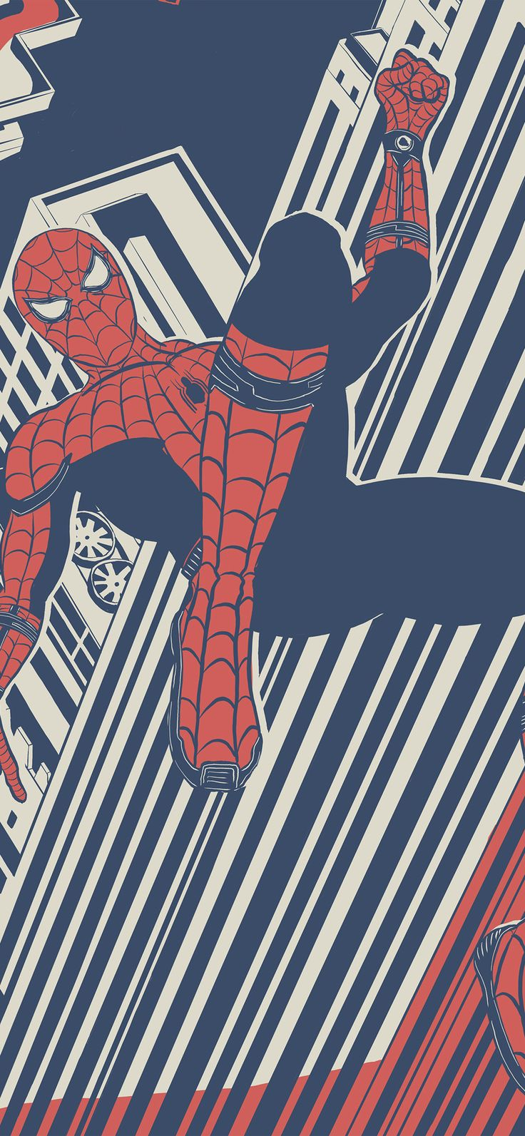 Iphone X Wallpaper : bf29-spiderman-hero-painting-marvel-art via iPhoneXpapers.com – Wallpapers for i…