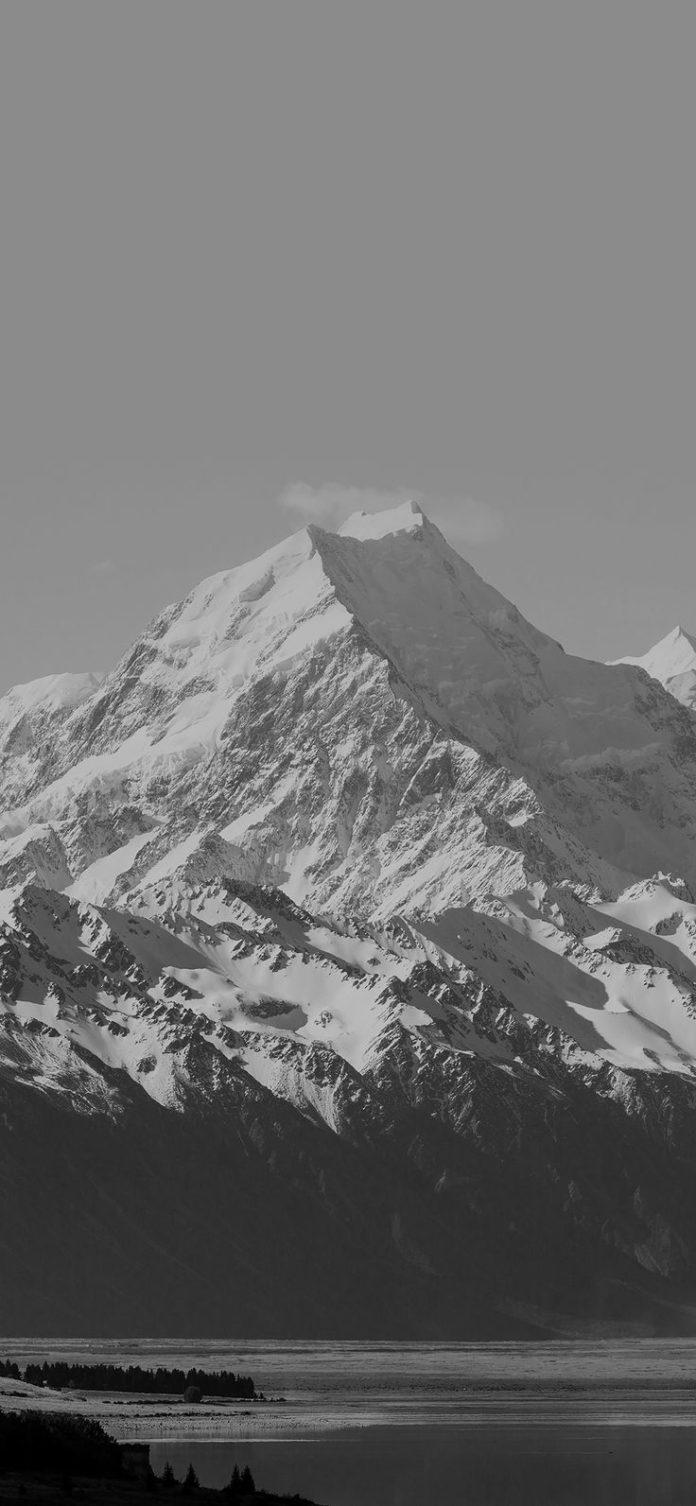 mm64-mountain-snow-lake-dark-bw-nature-peace via iPhoneXpapers.com - Wallpapers ...