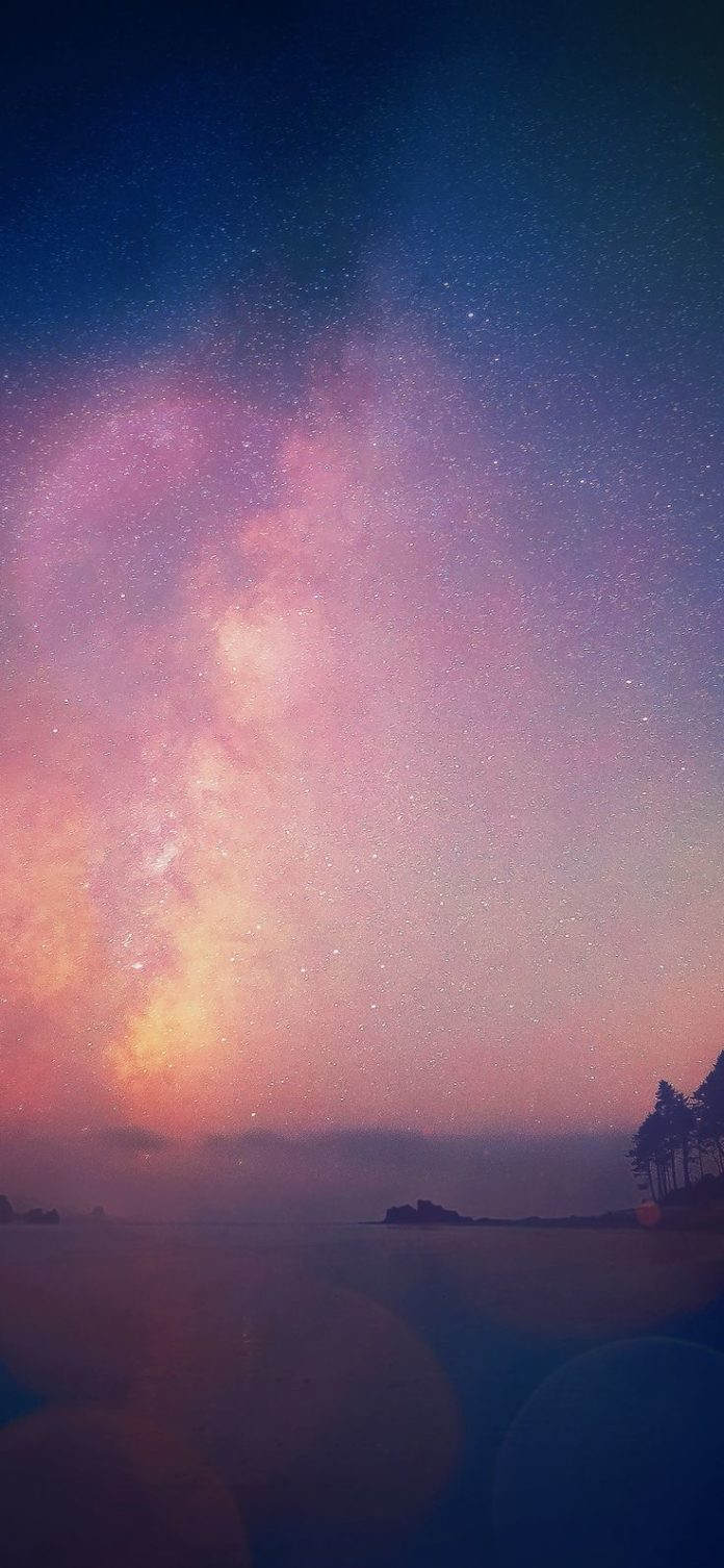 mn63-night-sky-star-falling-blue-aurora-nature via iPhoneXpapers.com - Wallpaper...
