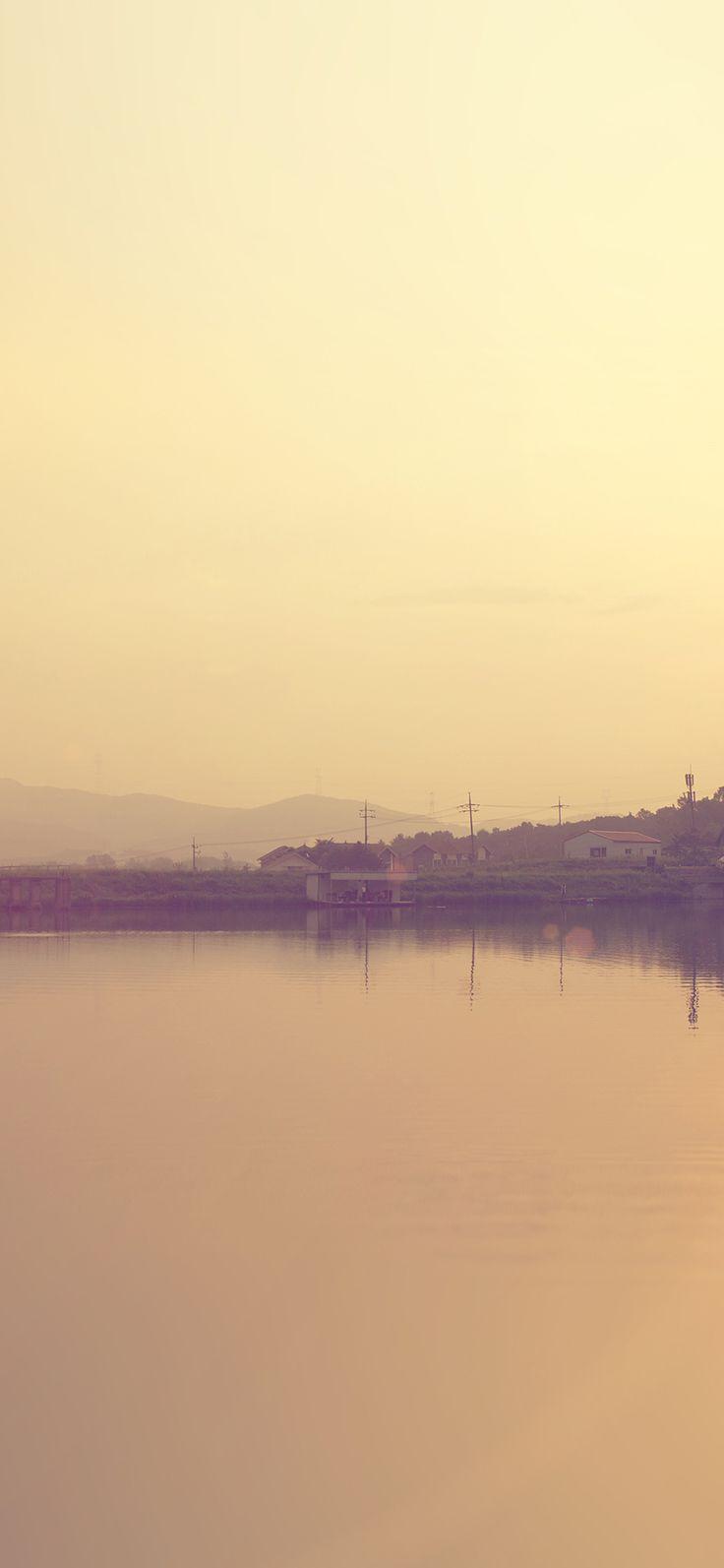 Iphone X Wallpaper Mq85 Lake Nice Sea Ocean Nature Sunset