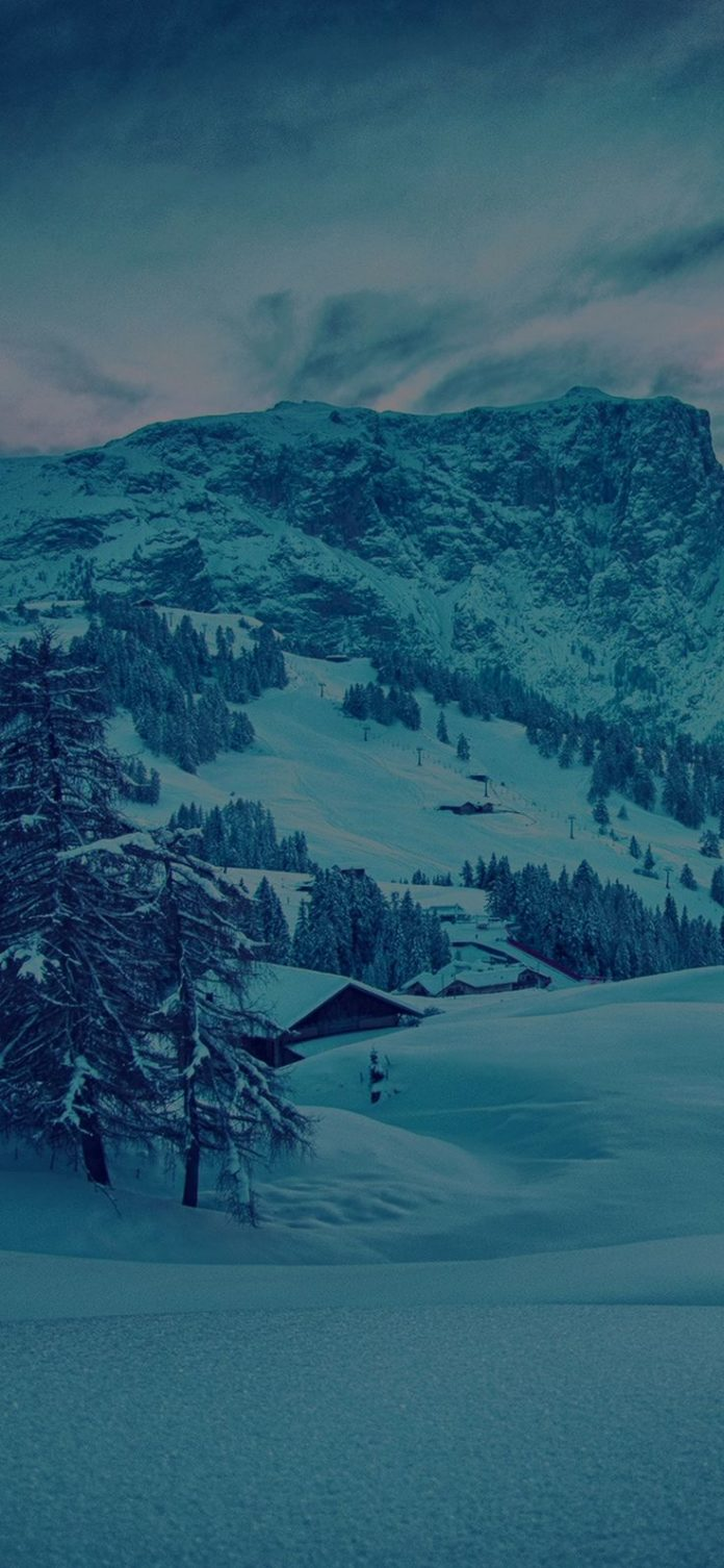 mr46-mountain-green-snow-winter-nature-ski-dark via iPhoneXpapers.com - Wallpape...