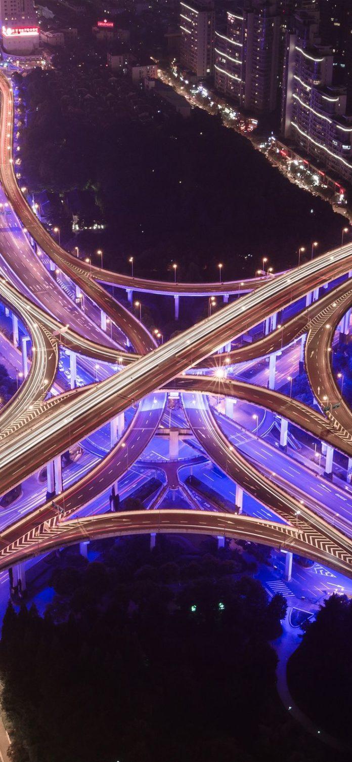 ny51-street-city-road-highway-purple-night-nature via iPhoneXpapers.com - Wallpa...