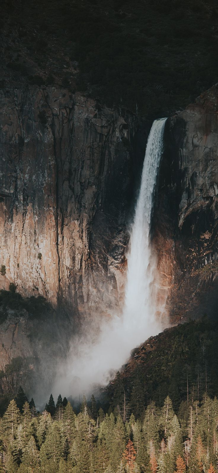 Iphone X Wallpaper Nz22 Water Fall Mountain Nature Via