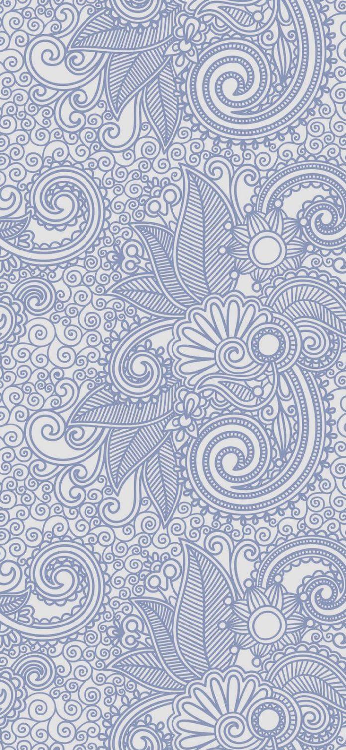 vk28-wallpaper-design-flower-line-blue-pattern via iPhoneXpapers.com - Wallpaper...