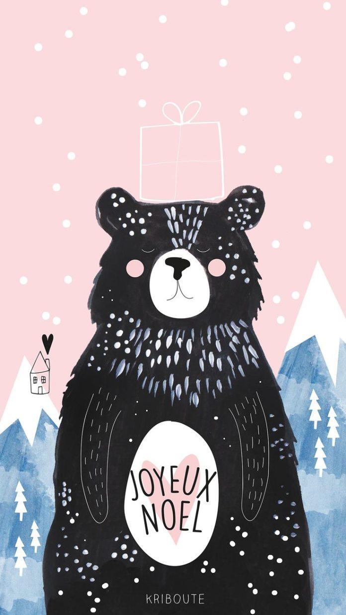 🦌 🎅 Wallpaper de noël - Ours de Noël ⛄ 🎄  Fond d'écran de noël ...