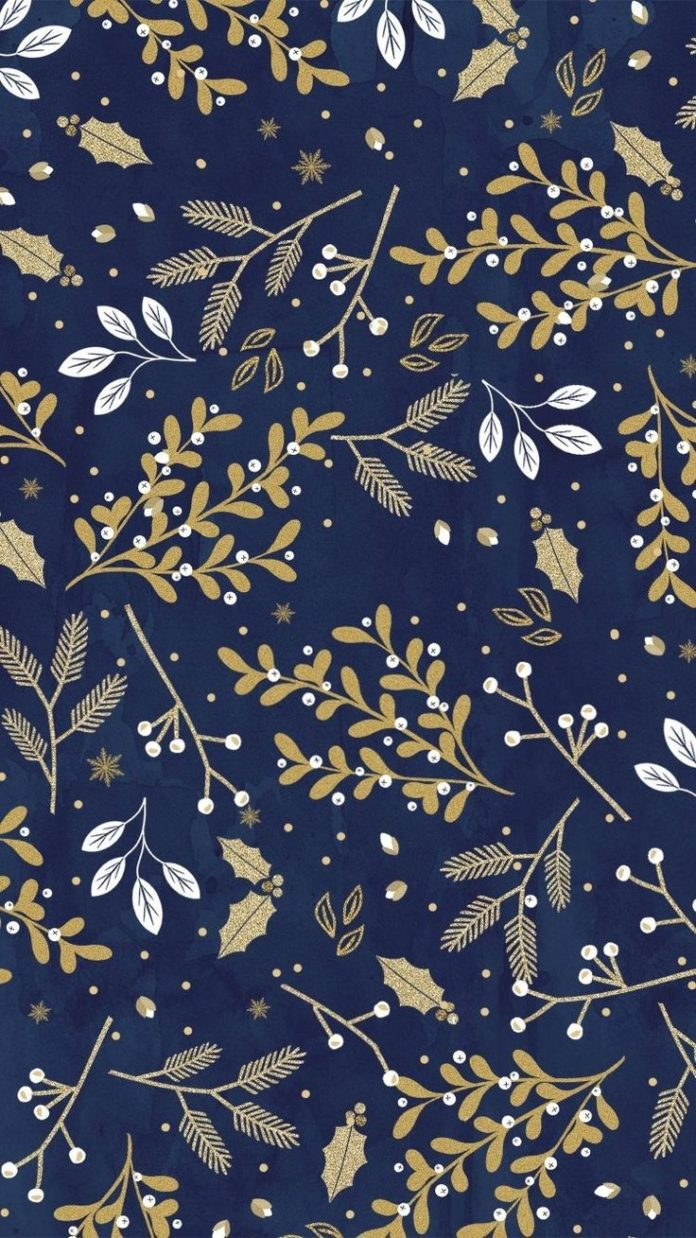 Blue, Gold and White Winter Themed Wallpaper or Background. Love all the Winter ...