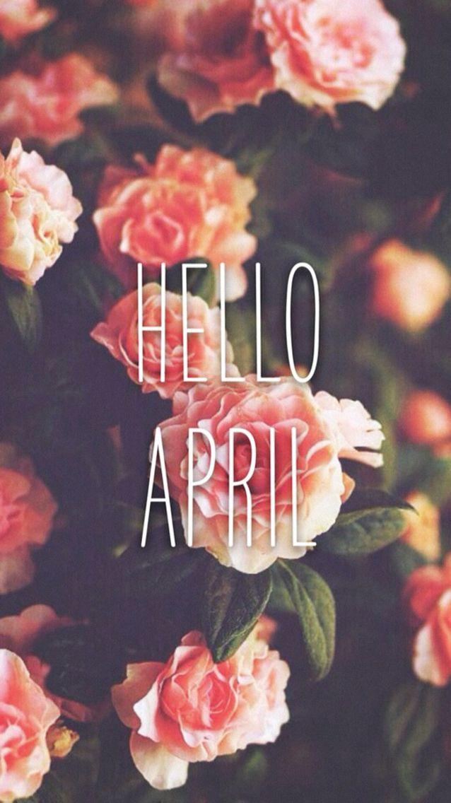 Wallpaper iPhone #hello April