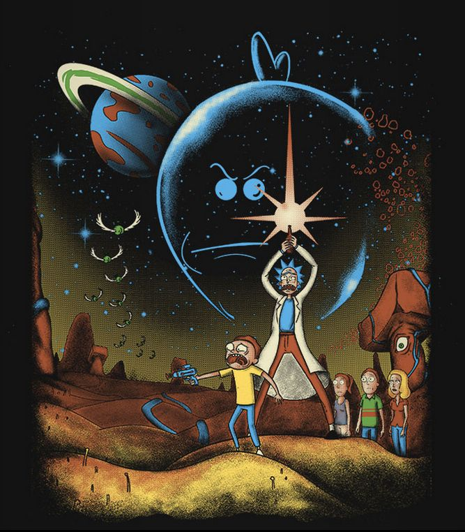 Rick and Morty Wallpaper iphone : In a dimension far far away…