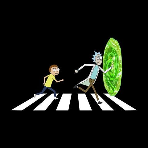 Rick And Morty Beatles Abbey Road Portal