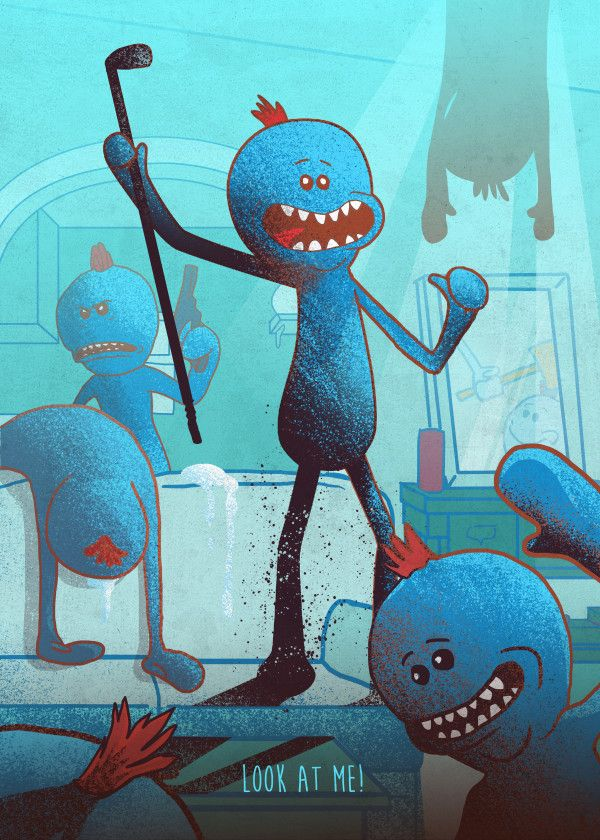Rick And Morty Character Poses Mr. Meeseeks #Displate artwork by artist