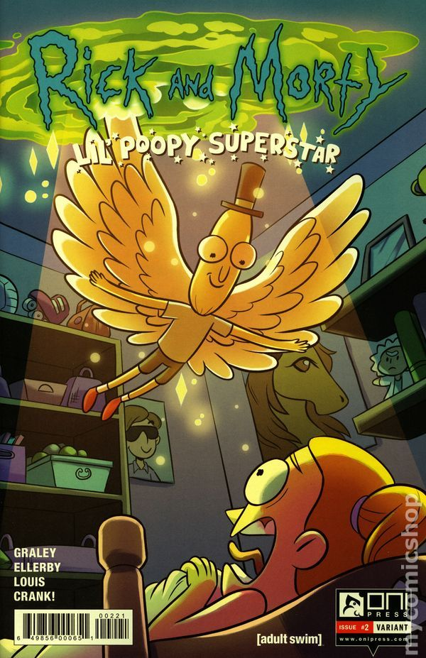 Rick and Morty Lil Poopy Superstar (2016) 2B Oni Press Modern Age Comic Book cov...