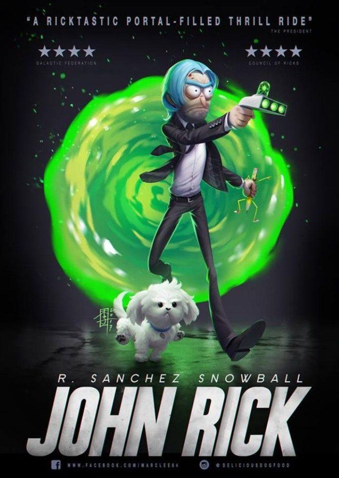 Rick and Morty x John Rick & Snowball
