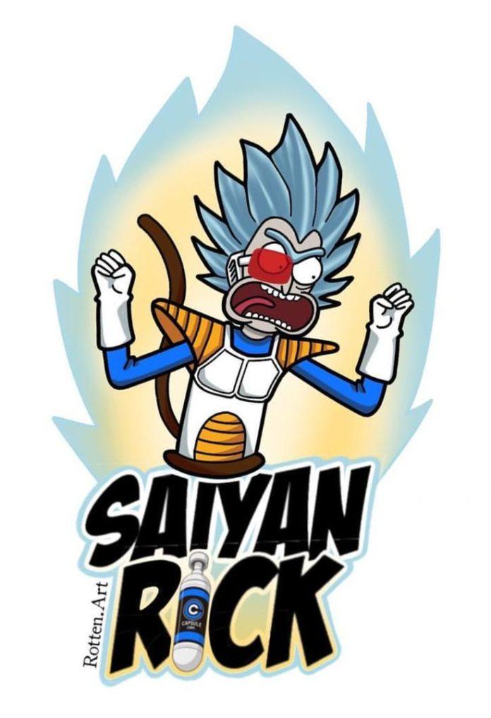 Rick and Morty x Saiyan Rick!!