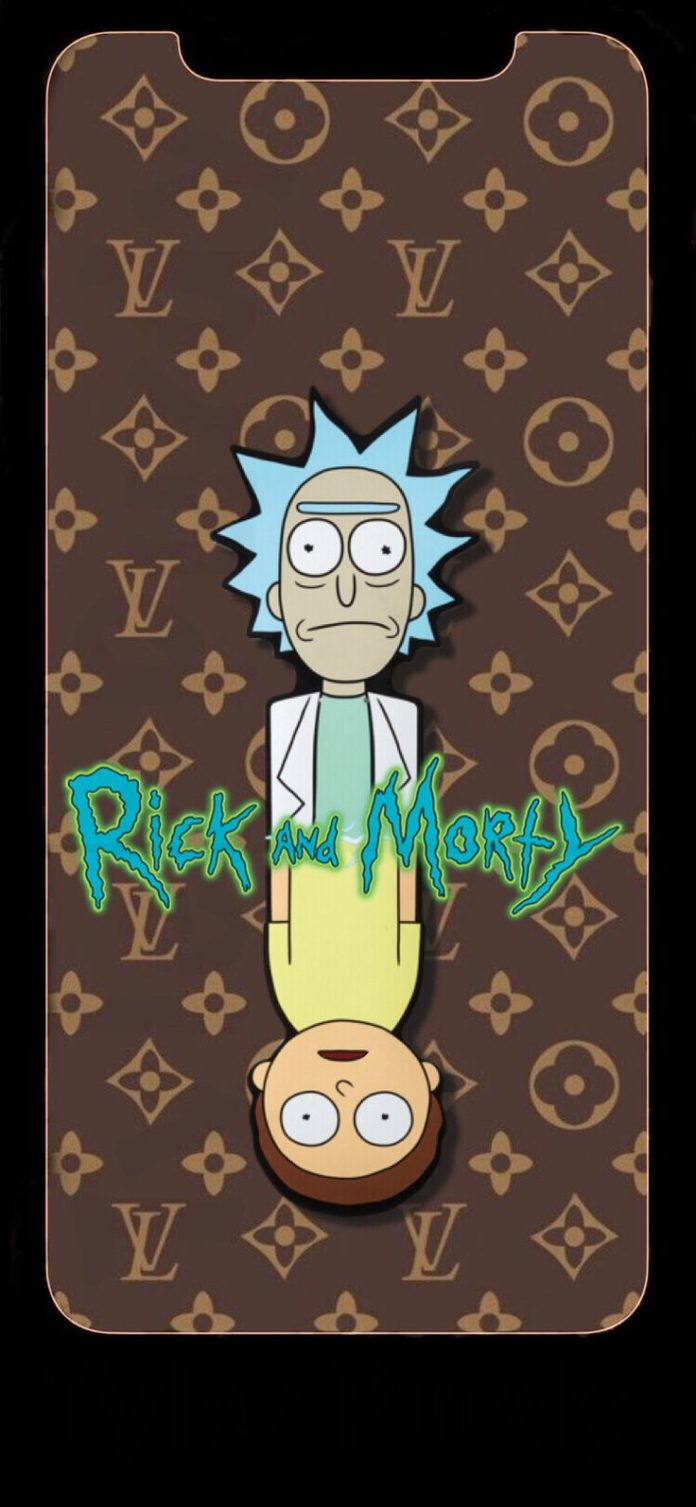 Rick and morty Louis Vuitton wallpaper