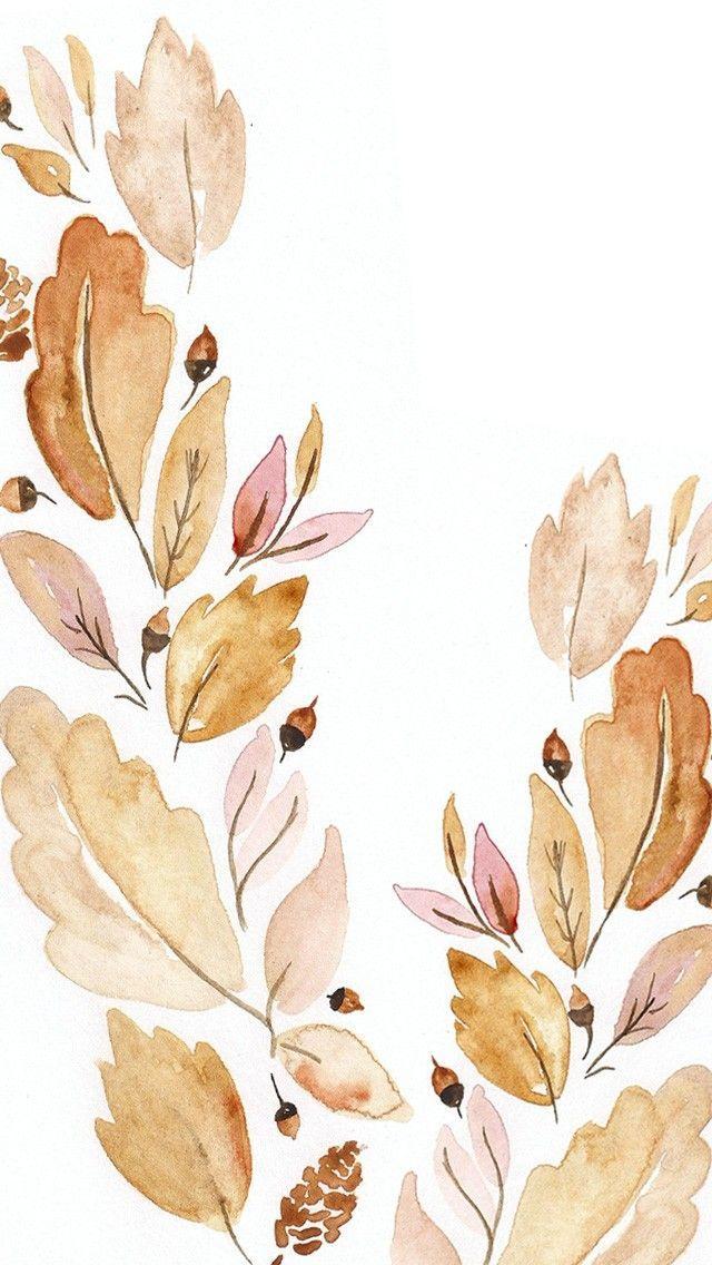 Desktop Wallpaper Leaves Print Fall Phone Background