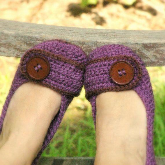 slipper crochet pattern- I want these!!