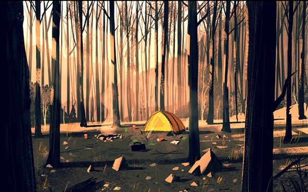 Campo Santo has revealed concept art for their first game, Firewatch.