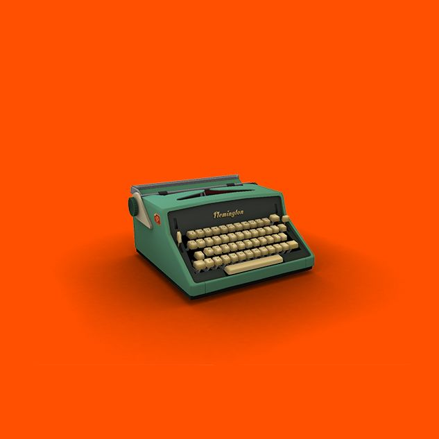 Final textured typewriter model - Olly Moss, Campo Santo game art.