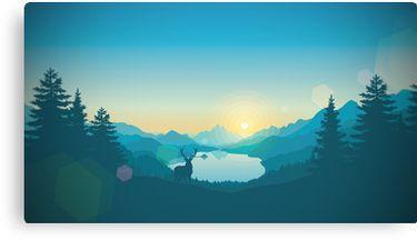Firewatch Art Design 4K Canvas Print